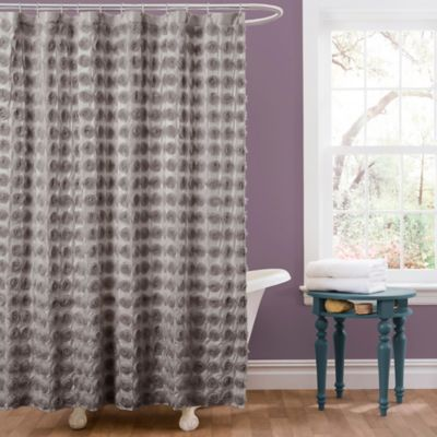 Purple Gray Shower Curtain