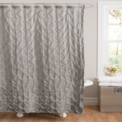 Grey and Pink Shower Curtain