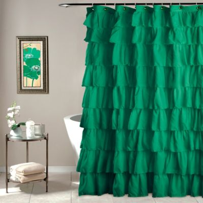 Ruffled Shower Curtains for Bathroom