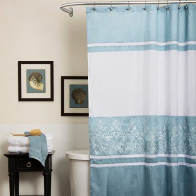 Charlotte Shower Curtain in Blue