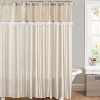 Rowan Shower Curtain in Taupe