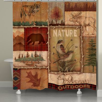 Laural Home® Lodge Collage Shower Curtain