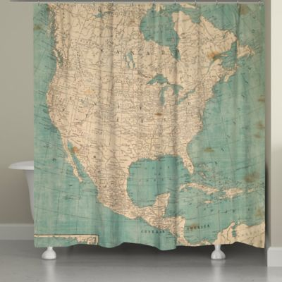 Buy Blue Beige Shower Curtain From Bed Bath Beyond