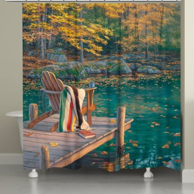 Laural Home® Golden Pond Shower Curtain