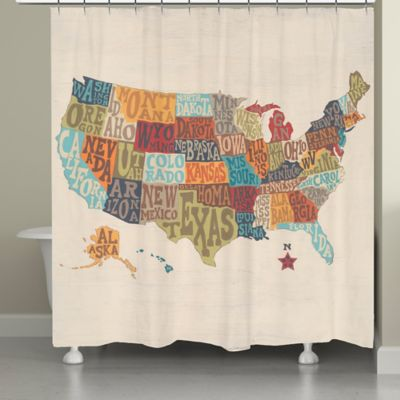 Laural Home® States Collage Shower Curtain