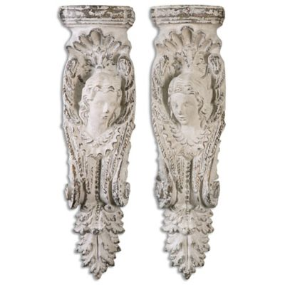 Uttermost Angelic Stone Shelves in Ivory (Set of 2)
