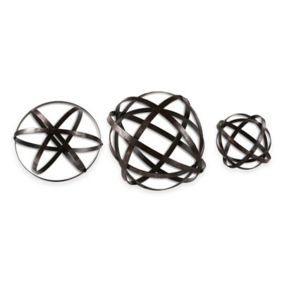 Uttermost Stetson Bronze Spheres (Set of 3)