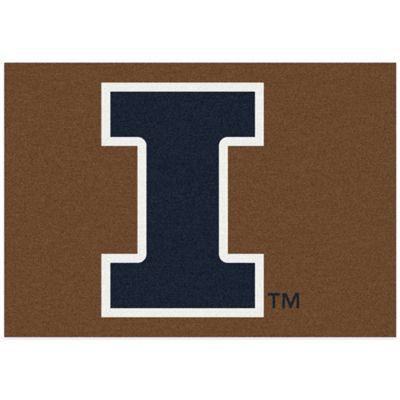 University of Illinois 7-Foot 8-Inch x 10-Foot 9-Inch Large Spirit Rug