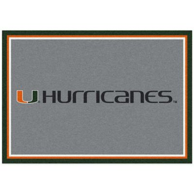 University of Miami 7-Foot 8-Inch x 10-Foot 9-Inch Large Spirit Rug