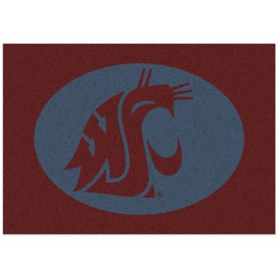 Washington State University 3-Foot 10-Inch x 5-Foot 4-Inch Small Spirit Rug