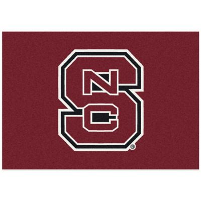 North Carolina State University 3-Foot 10-Inch x 5-Foot 4-Inch Small Spirit Rug