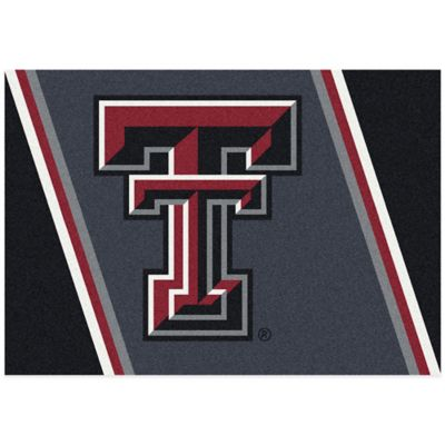 Texas Tech University 3-Foot 10-Inch x 5-Foot 4-Inch Small Spirit Rug