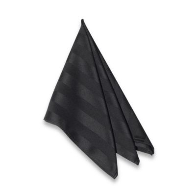 Chateau Stripe Napkin in Black