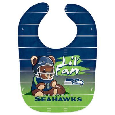 """NFL Seattle Seahawks """"Lil' Fan"""" Teddy Bear Bib"""