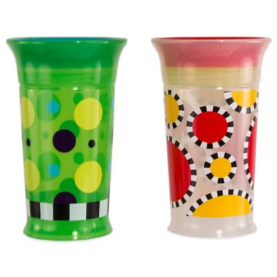 Sassy® 2-Pack 9 oz. Grow Up Cup™ in Multi Dot