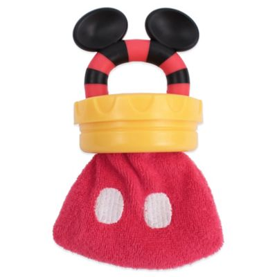 Sassy® Disney® Mickey Mouse Terry Teether in Red
