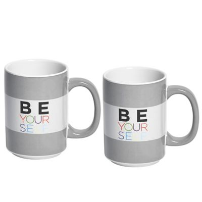 "Novogratz Collection ""Be Yourself"" Mugs (Set of 2)"