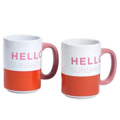 "Hello Sunshine"" Mugs"