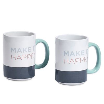 "Novogratz Collection ""Make It Happen"" Mugs (Set of 2)"
