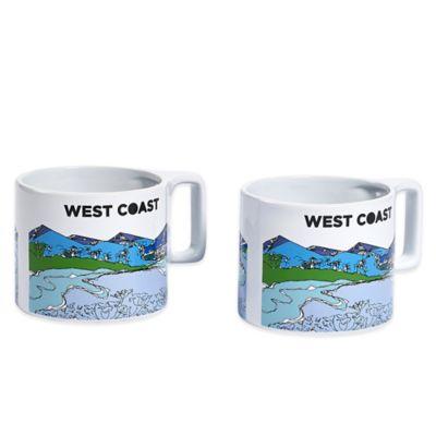 "Novogratz Collection ""West Coast"" Mugs (Set of 2)"