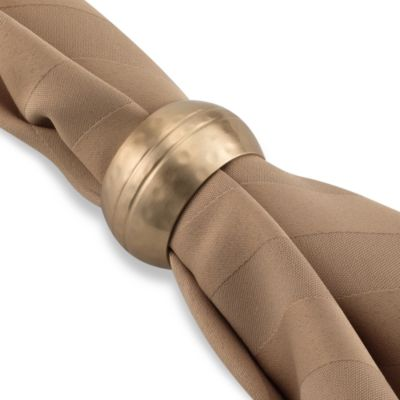Orbit Napkin Ring in Brushed Gold