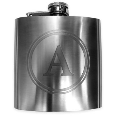 "Mud Pie® Stainless Steel Letter ""A"" Boxed Flask"