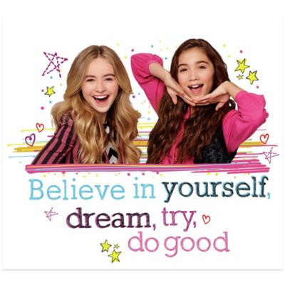 "Girl Meets World ""Believe in Yourself"" Peel and Stick Giant Wall Decal"