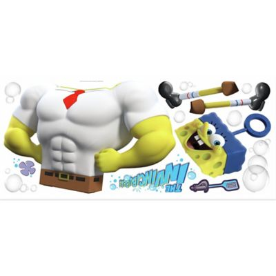 The Spongebob Movie Character Peel and Stick Giant Wall Decal