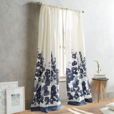 DKNY Park Slope 95-Inch Pole-Top Window Curtain Panel in Indigo