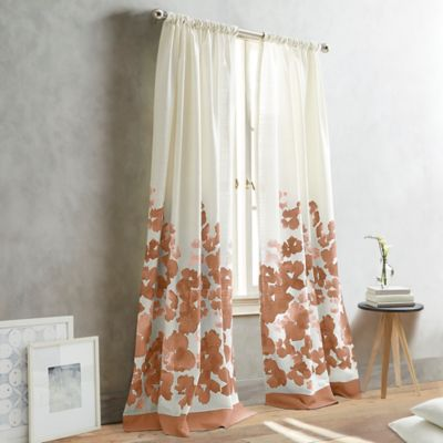 DKNY Park Slope 95-Inch Pole-Top Window Curtain Panel in Coral