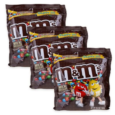 Mars M&M's® Milk Chocolate Party Size Bag (3-Pack)