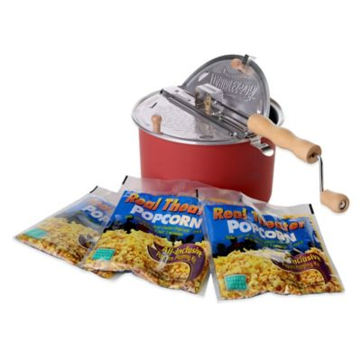 WhirleyPop™ Stovetop 6 qt. Popcorn Popper and Theater Party Pack in Barn Red