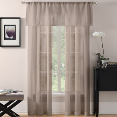 Laura Sheer Window Valance in Off-White