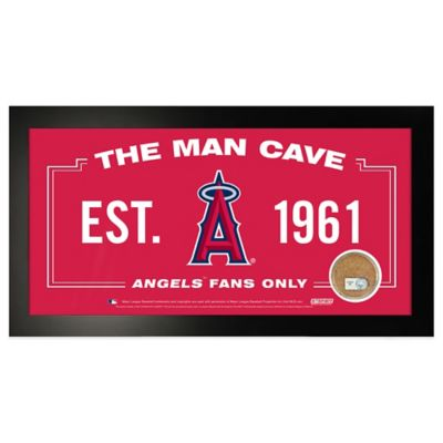 MLB Los Angeles Angels Small Framed Man Cave Sign