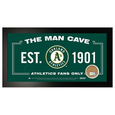 MLB Oakland Athletics Large Framed Man Cave Sign
