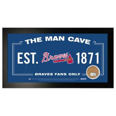 MLB Atlanta Braves Large Framed Man Cave Sign