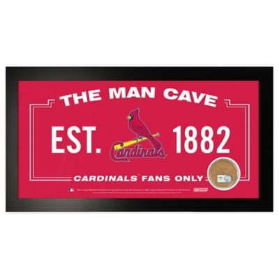 MLB St. Louis Cardinals Large Framed Man Cave Sign