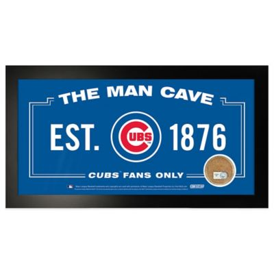 MLB Chicago Cubs Small Framed Man Cave Sign