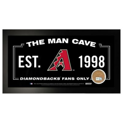 MLB Arizona Diamondbacks Large Framed Man Cave Sign