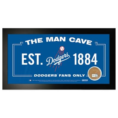 MLB Los Angeles Dodgers Small Framed Man Cave Sign