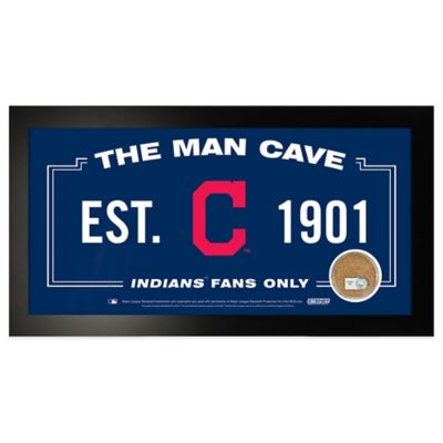 MLB Cleveland Indians Large Framed Man Cave Sign