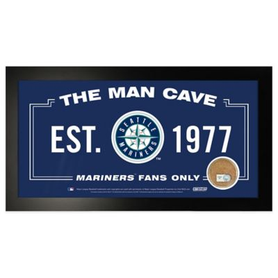 MLB Seattle Mariners Large Framed Man Cave Sign