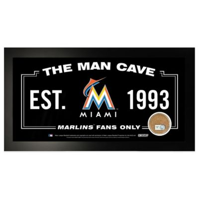 MLB Miami Marlins Large Framed Man Cave Sign