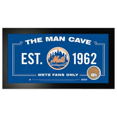 MLB New York Mets Large Framed Man Cave Sign