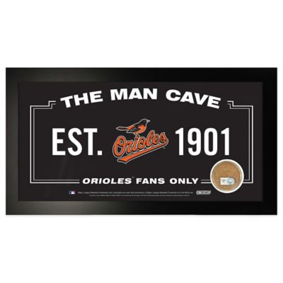 MLB Baltimore Orioles Large Framed Man Cave Sign