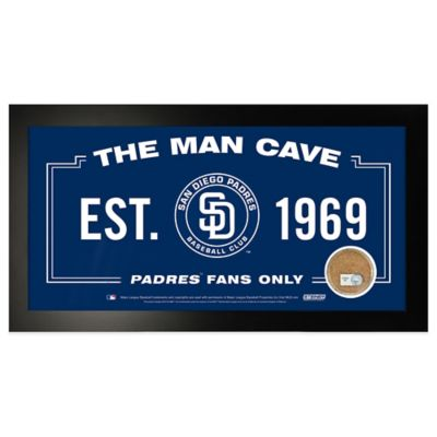 MLB San Diego Padres Small Framed Man Cave Sign