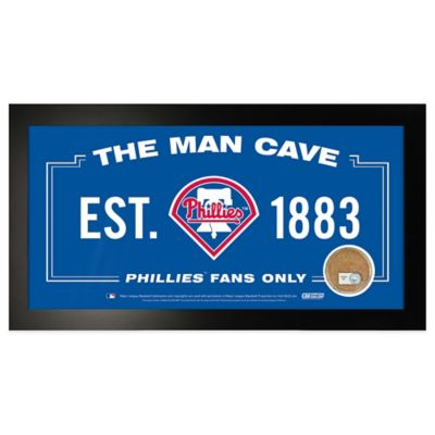 MLB Philadelphia Phillies Large Framed Man Cave Sign