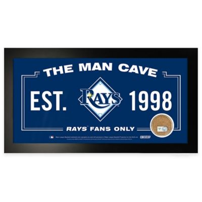 MLB Tampa Bay Rays Large Framed Man Cave Sign