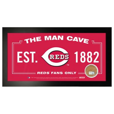 MLB Cincinnati Reds Large Framed Man Cave Sign