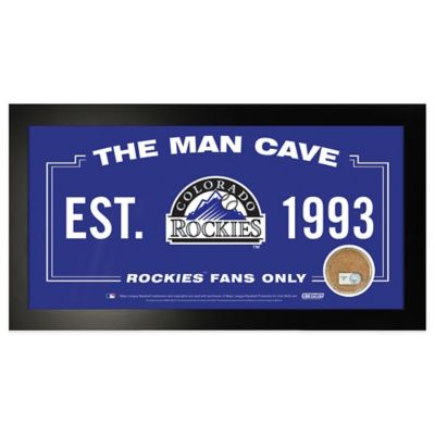 MLB Colorado Rockies Small Framed Man Cave Sign